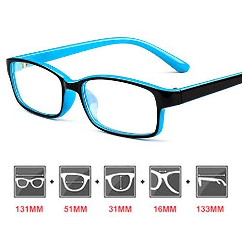 Cadre de lunettes pour enfants - Eyeglasses pour enfants Clear Lens Lunettes de lecture rétro pour filles Garçons - Juleya Bleu