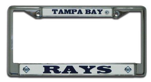MLB Tampa Bay Devil Rays Chrome License Plate Frame