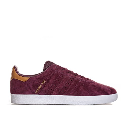 adidas Originals Mens 350 Trainers Maroon US6.5 Red