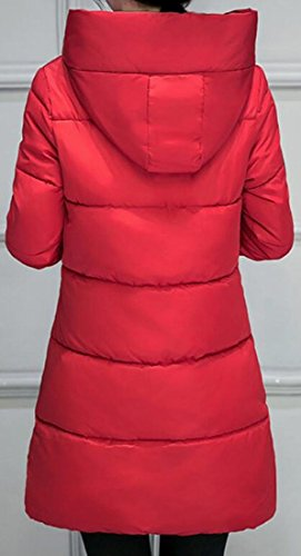 Coat Outerwear Red Jacket today Down Parka UK Casual Hoodie Cotton Women's qxqTYFU