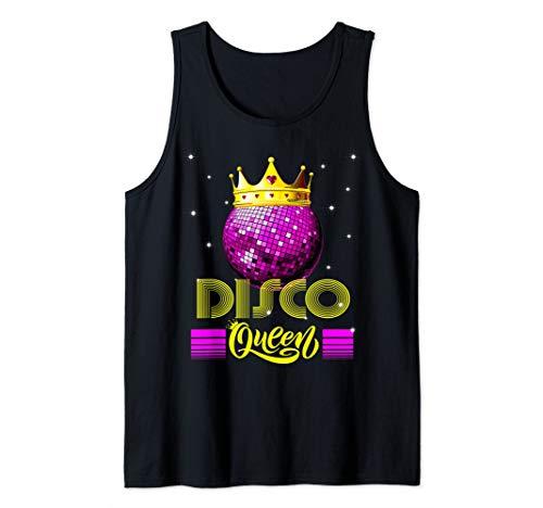 - Disco Queen Tshirt - Retro 70s Vintage Disco Ball Tank Top