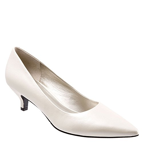 Trotters Women's Paulina White Pearl Kid Leather 9 M - Kid Leather Pump