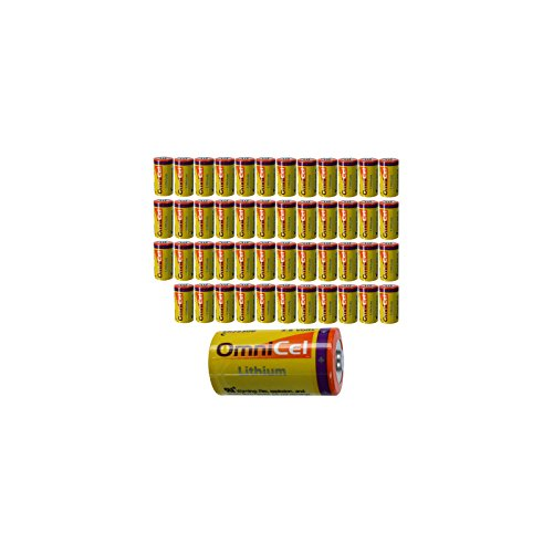 10x OmniCel ER26500 3.6V 8.5Ah Sz C Lithium Button Top Battery Telematics by Exell Battery