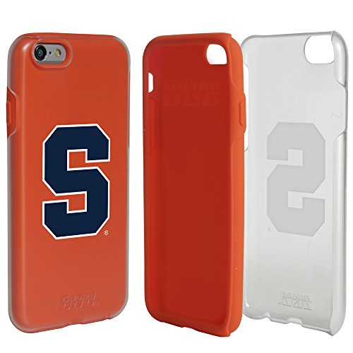Syracuse Orange Clear Hybrid Case for iPhone 6 / 6s with Orange Insert and Guard Glass Screen - Syracuse Glasses