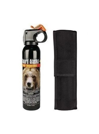 Bear Guard Alaska Bear Pepper Spray 9 Ounce Can with Nylon Holster