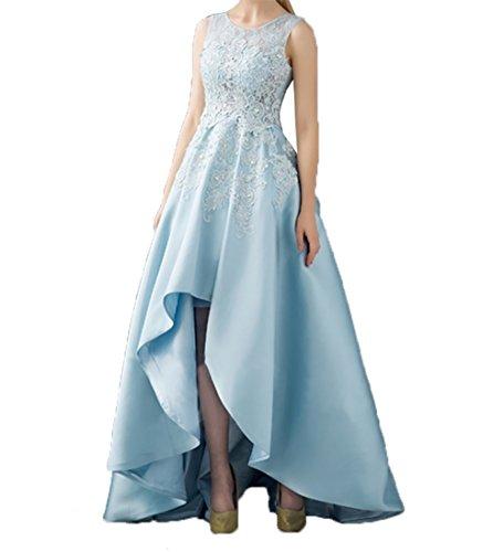 A Braut Standsamt Spitze Himmel Kleider Linie Asymettrisch  Abschlussballkleider mia Blau Rock Hi lo La Abendkleider ... 20a1cd1fab