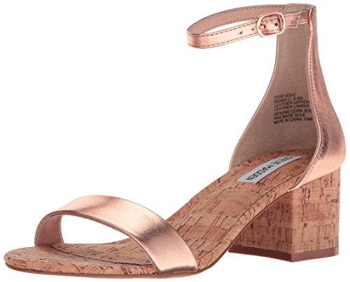 Steve Madden Womens Irenee Heeled Dress Sandal Rose Gold