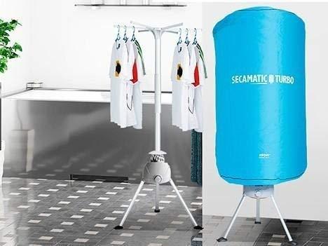 Secadora de ropa portátil si rozamiento por aire caliente para 8 kilos de ropa. Secamatic Turbo