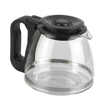 Tecnhogar 00566 - Jarra cónica universal para cafetera con tapa regulable altura, transparente/negro: Amazon.es: Hogar