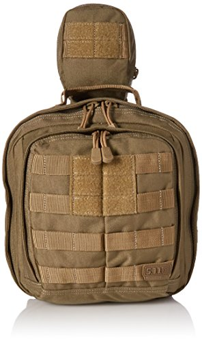 5.11 RUSH MOAB 6 Tactical Sling Pack Military Molle Backpack Bag, Style 56963, Sandstone