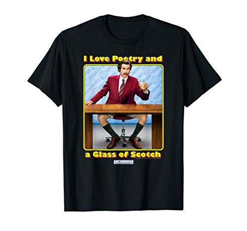 Anchorman I Love Poetry and a Glass of Scotch T-Shirt ()