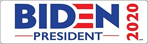 Bumper Planet - Bumper Sticker - Joe Biden for President 2020 (White) 3 x 10 inch - Vinyl Decal Professionally Made in USA