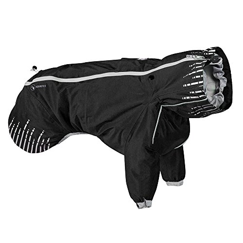 Hurtta Rain Blocker, Dog Raincoat, Raven, 26 in by Hurtta