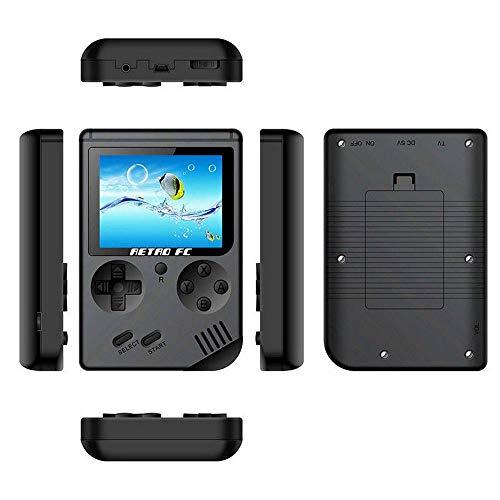 ポータブルゲーム 3インチ カラー液晶 レトロゲーム 168ゲーム収録 ポケットゲーム クラシックゲーム 子供 男の子 誕生日 ギフト プレゼント 携帯 (ブラック)