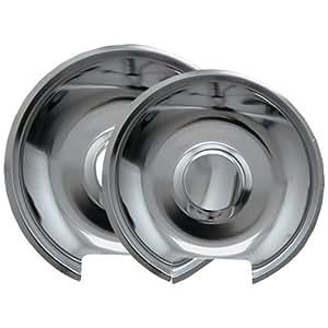 Range Kleen 10342X Style E Chrome Drip Pans, 2-Pack