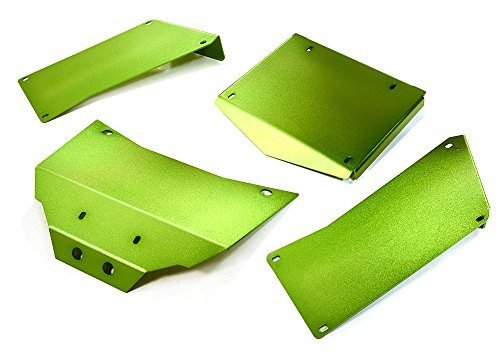 Integy RC Model Hop-ups C27003GREEN Aluminum Alloy Body Panel Kit for Axial 1/10 RR10 Bomber 4WD