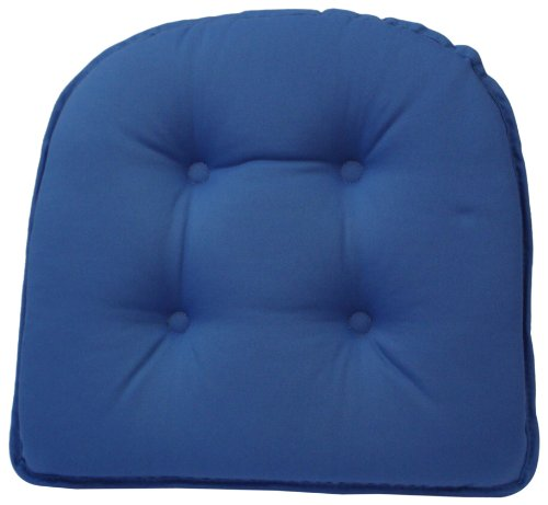 klear vu gripper 100-percent cotton twill chairpad, blue summer