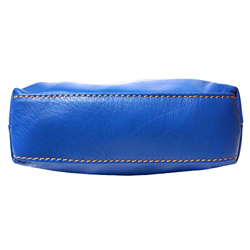 Hombro 8610 Cuero De Azul En Mini marròn Bolso Suave q6Hga