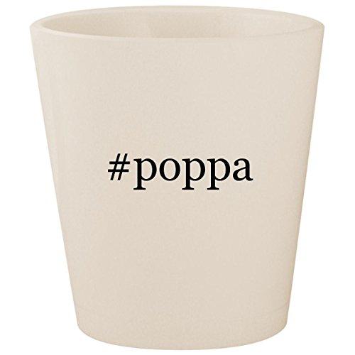 #poppa - White Hashtag Ceramic 1.5oz Shot Glass