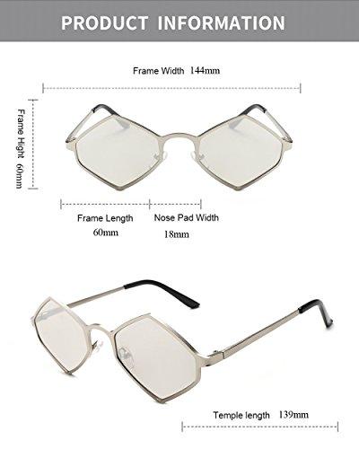 lente gafas Plata Diseñador para moda de de negro color amarillo de hombres poligonal damas mujeres de irregular marca hombre estuche sol Gafas de de con Eyewear pequeña para za6tqWpqw