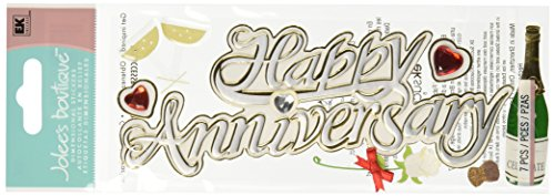 JOLEES Boutique Title Waves Dimensional Stickers, Happy Anniversary ()