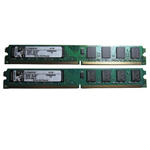 Kingston KVR800D2N5/2G 2GB DIMM-DDR2 800mhz PC2-6400 240-Pin Memory Pack of 2