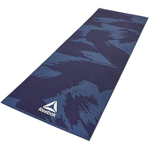Reebok Brush Strokes Yoga Mat, Blue/Black,