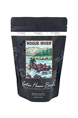 Whitewater Rafting Tours - Rogue River, Oregon - White Water Rafting (8oz Whole Bean Small Batch Artisan Coffee - Bold & Strong Medium Dark Roast w/ Artwork)