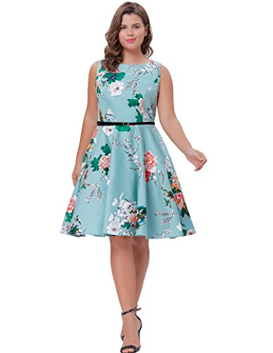 floral cotton tea dress - 7