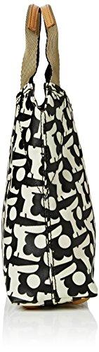 Orla Kiely Small Classic Zip - Bolso de hombro Mujer negro