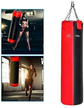 ホームボクシングバッグ三田サンドバッグハングボクシングサンドバッグソリッドパンチングバッグフィットネス機器三田トレーニングサンドバッグ (Color : Red, Size : 32*32*130cm)