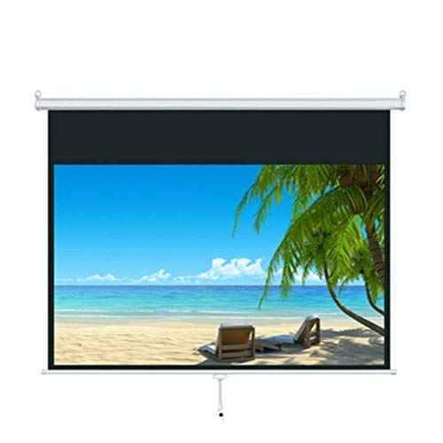 GAO 72 Inches Projector Screen Portable Movies Screen,16:9 Curtain, Hand Curtain Projector Screen Projection Screen Projector Screen ()