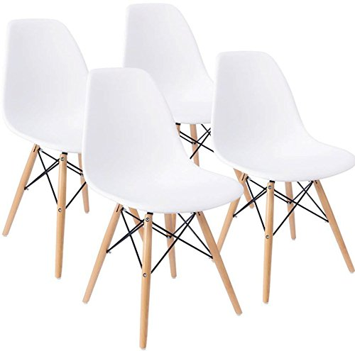 Mecor Dining Chairs Set Of 4 Kitchen Leather Chair With: White Living Room Sets