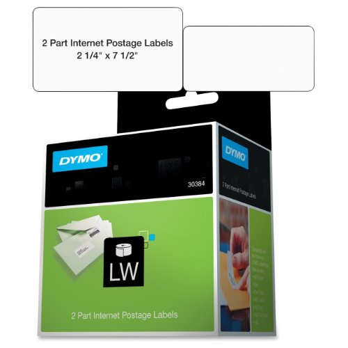 Dymo 30384 2-Part Internet Postage - Labels - black on white - 2.25 in x 7.5 in 150 label(s) ( 1 roll(s) x 150 ) - for DYMO Desktop Mailing ()