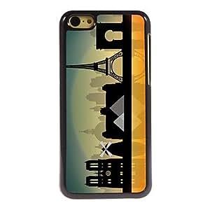 YULIN The Eiffel Town Design Aluminum Hard Case for iPhone 5C