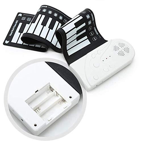 [해외]Elrido 키보드 피아노 핸드 롤업 키보드 피아노 휴대용 49 키 전자 핸드 롤링 키보드 교육용 악기 어린이 아이들을 위한 내장형 큰 스피커 / Elrido Portable Electronic Piano Keyboard Kids 49-Key Roll-Up Piano Keyboard Portable Flexible Musi...