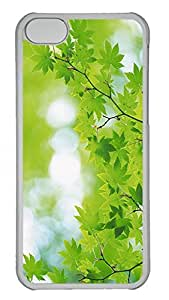 iPhone 5c Case Unique Cool iPhone 5c PC Transparent Cases Branch With Green Leaves 25 Design Your Own iPhone 5c Case