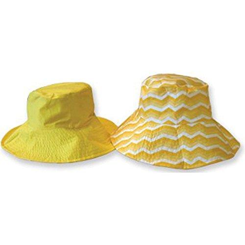 Zonlelie Mode Flips Omkeerbare Zonnehoed Met Tote - Womens (napa Valley) Geel
