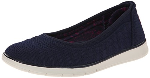 BOBS from Skechers Women's Pureflex Skimmer Flat, Navy, 6...