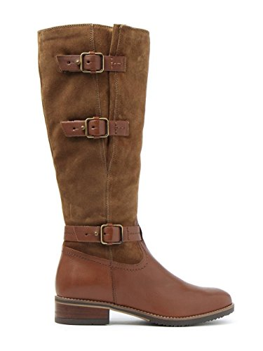 Brown Femmes Leather Marina Bottes Ville Tamro Combie Marron Clarks 76w1gxIqn