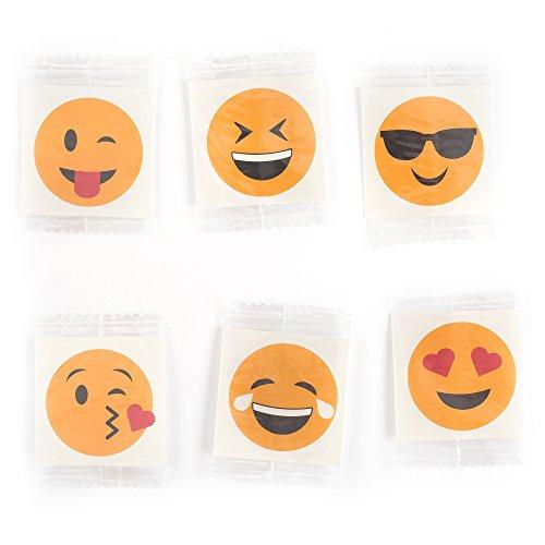 Fun Central AZ958 144 Pieces Assorted Emoji Temporary Tattoos, Emoji Temporary Tattoos Kit Set, Fun Temporary Tattoos for Kids]()