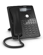 Snom Global Desk Telephone D725 (12 SIP Identities, 18 Multi Color Function Keys, VLAN Support, Wideband Audio) Black