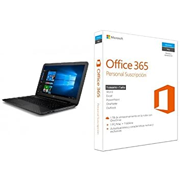 "HP 15-AY005NS - Portátil de 15,6"" (Intel Core i3-"