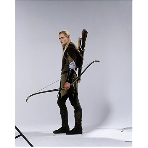 Orlando Bloom 8 inch by 10 inch PHOTOGRAPH Elizabethtown Pirates of the Carribean movies Lord of the Rings movies Full Body as Legolas Bow at Side kn (Legolas Bows)
