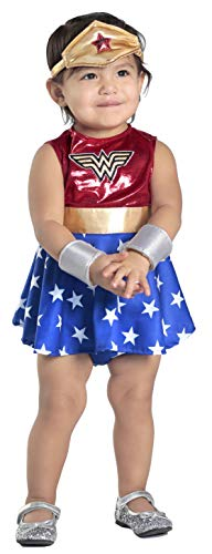 Princess Paradise Baby Girls' Wonder Woman Costume Dress and Diaper Cover Set, As As Shown, 0 to 6 Months -