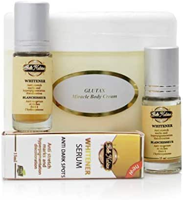 Glutax Miracle Body Cream and 2 Belle Nubian Serums