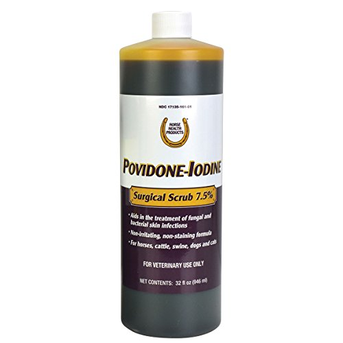 Farnam Horse Health Povidone-Iodine Surgical Scrub 7.5%, 32 oz by Farnam
