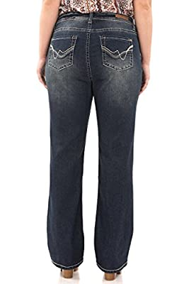 WallFlower Juniors Plus Size Long Inseam Basic Legendary Bootcut Jeans