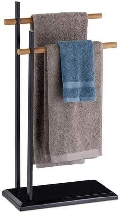 Porte serviette en bambou et m/étal 3 bras pivotants.