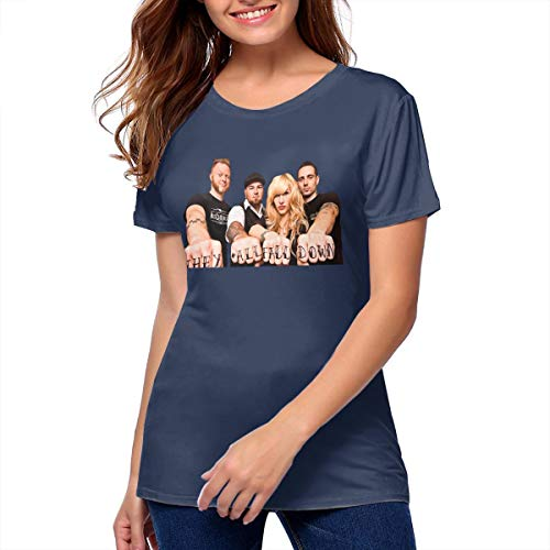 Women Walk Off The Earth Fashion T-Shirt Music Band T-Shirts Navy L